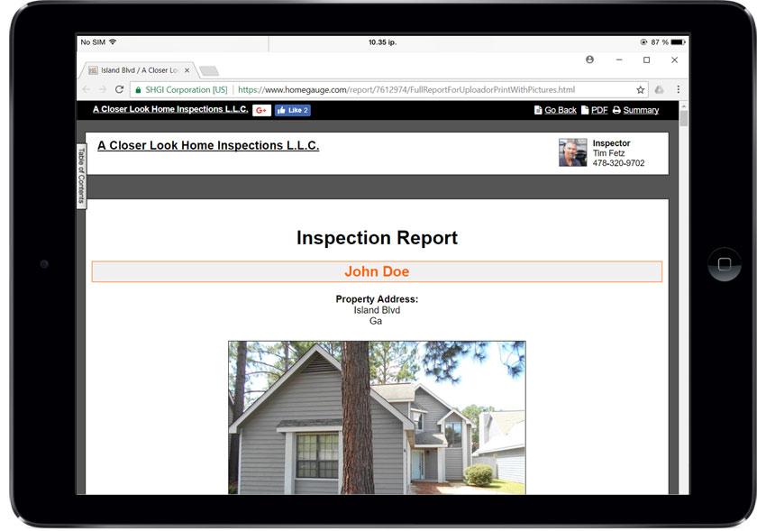 Home Gauge CRL Digital Inspection Report